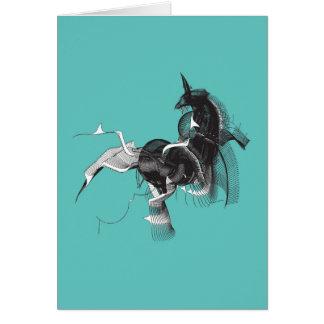 Unicornio de Digitaces Tarjeta De Felicitación