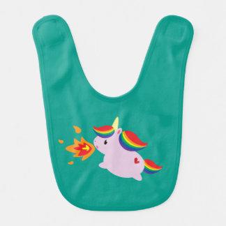 Unicornio de Fuego-Respiración Babero Para Bebé