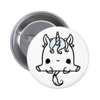 Unicornio de Kawaii (usted cambia el fondo!) Pin Redondo De 2 Pulgadas