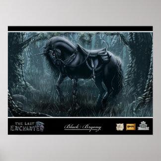 Unicornio de la brionia negra póster