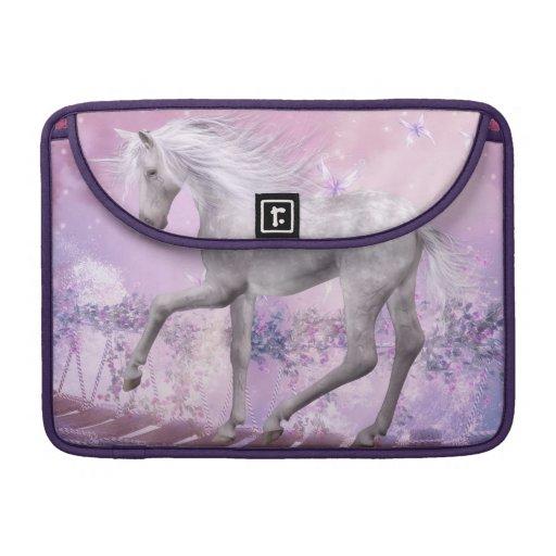 unicornio de la fantasía fundas para macbook pro