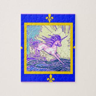 Unicornio de la flor de lis por Sgarles Puzzles