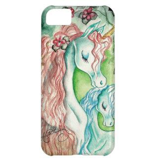 Unicornio de la madre y del bebé funda para iPhone 5C