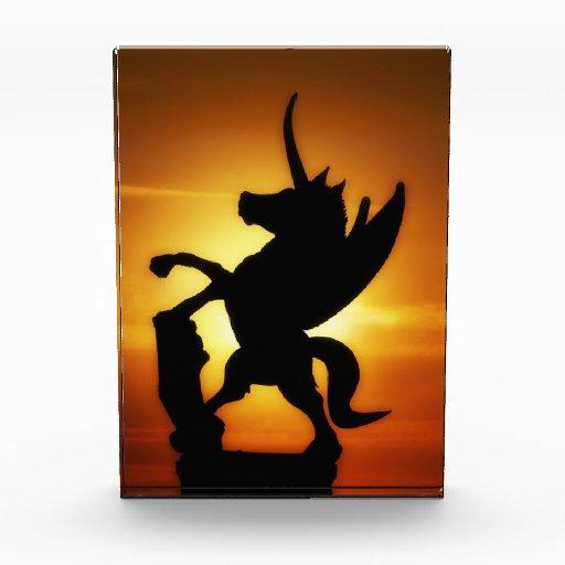 Unicornio de la puesta del sol
