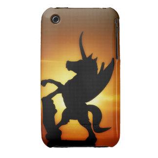 Unicornio de la puesta del sol iPhone 3 cárcasas