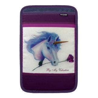 Unicornio de la tarjeta del día de San Valentín Funda Macbook Air