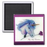 Unicornio de la tarjeta del día de San Valentín Iman De Nevera