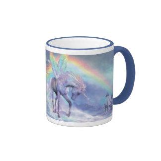 Unicornio de la taza del arco iris