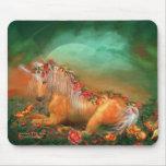 Unicornio de los rosas Mousepad Tapetes De Ratón