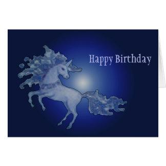 Unicornio de medianoche - modificado para requisit felicitaciones