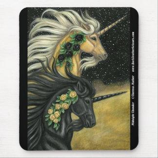 Unicornio de medianoche Mousepad del trueno