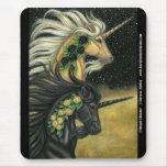 Unicornio de medianoche Mousepad del trueno Tapetes De Raton