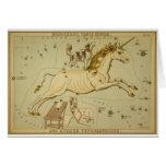 Unicornio de Monoceros de la astrología de la astr Tarjeta De Felicitación