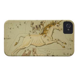Unicornio de Monoceros del caso del iPhone 4S de l iPhone 4 Fundas