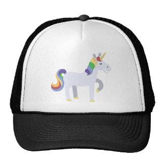 Unicornio de mueca divertido lindo con el pelo del gorras