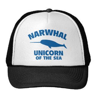 Unicornio de Narwhale del mar Gorros Bordados