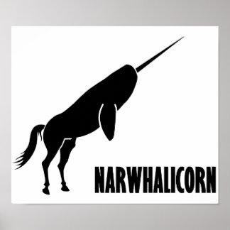 Unicornio de Narwhalicorn Narwhal Poster
