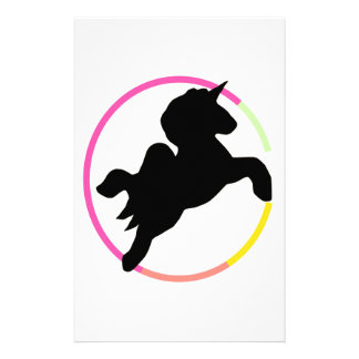 ¡Unicornio de neón! Papeleria De Diseño