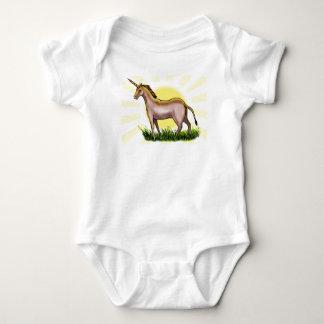 Unicornio de oro body para bebé