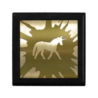 unicornio de oro del arte del metal cajas de regalo