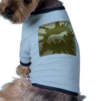 unicornio de oro del arte del metal camisa de perro