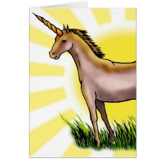 Unicornio de oro felicitaciones
