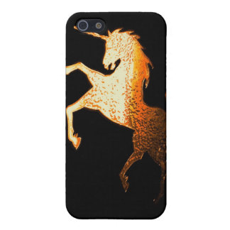 unicornio - de oro iPhone 5 fundas