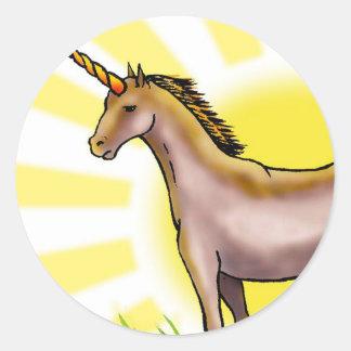 Unicornio de oro etiquetas