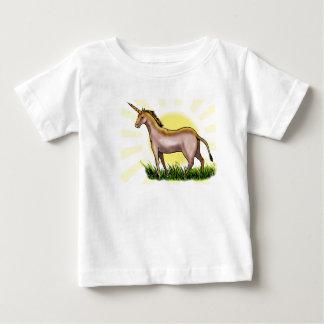Unicornio de oro playera de bebé