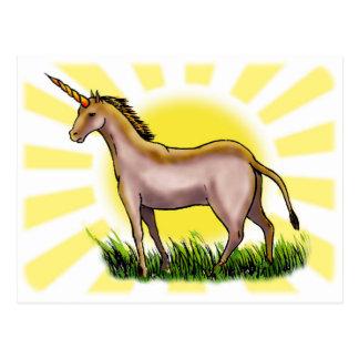 Unicornio de oro postales
