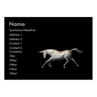 Unicornio de plata - rechoncho tarjeta de visita