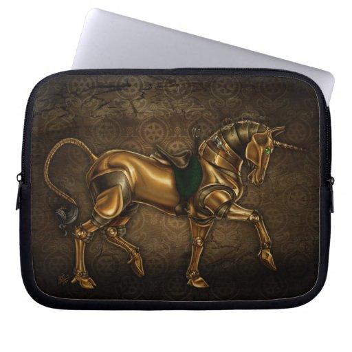 Unicornio de Steampunk Fundas Portátiles