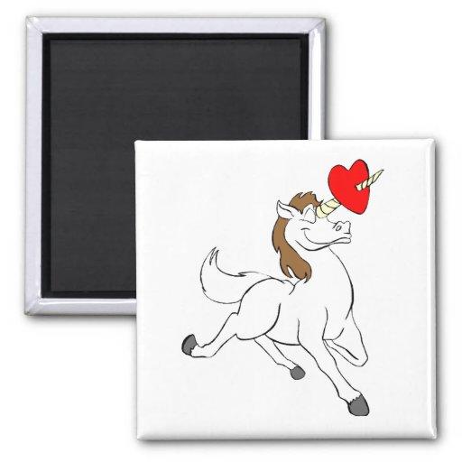 Unicornio del amor iman de frigorífico