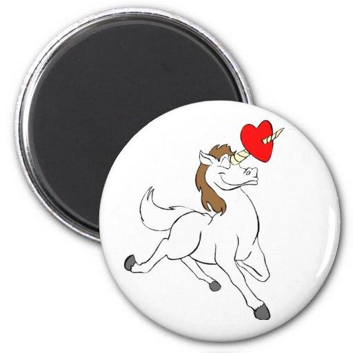 Unicornio del amor imán para frigorifico