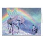 Unicornio del arco iris ArtCard