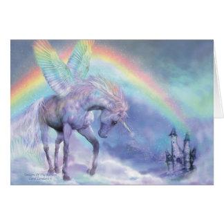 Unicornio del arco iris ArtCard Felicitaciones