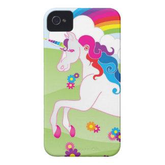 Unicornio del arco iris - caso del iPhone de Case-Mate iPhone 4 Protectores