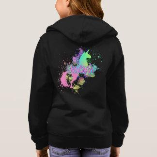 Unicornio del arco iris de la fantasía del sudadera