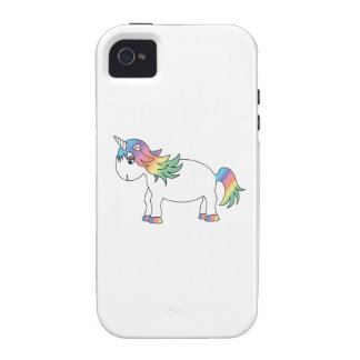 Unicornio del arco iris vibe iPhone 4 carcasa