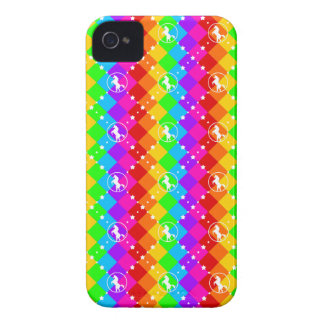 Unicornio del arco iris iPhone 4 cárcasa