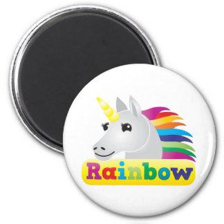 Unicornio del arco iris imán de frigorifico