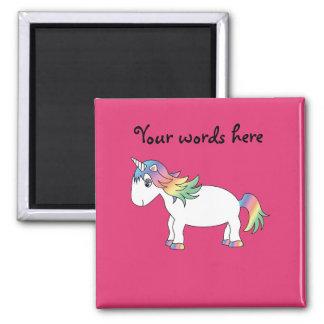 Unicornio del arco iris iman de nevera