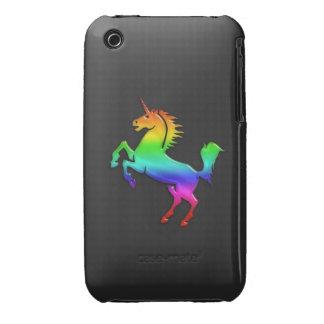 Unicornio del arco iris iPhone 3 funda