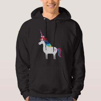 Unicornio del arco iris jersey encapuchado