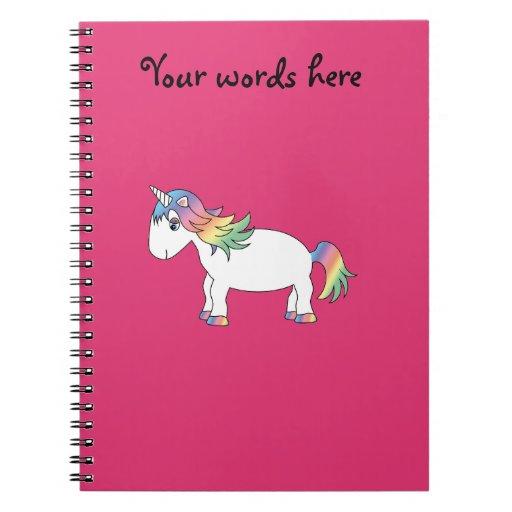 Unicornio del arco iris libreta espiral