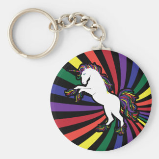 Unicornio del arco iris llavero