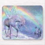 Unicornio del arco iris Mousepad Tapetes De Raton