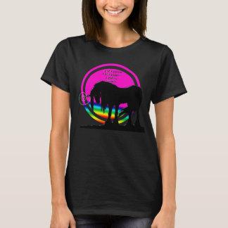 Unicornio del arco iris (no quiero al adulto hoy…) playera