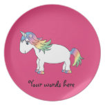 Unicornio del arco iris plato de comida