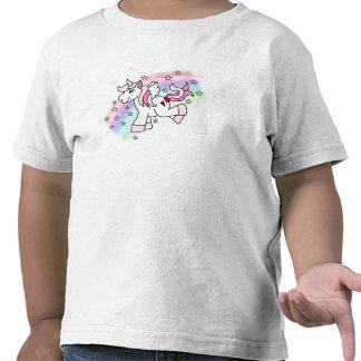 Unicornio del arco iris camisetas